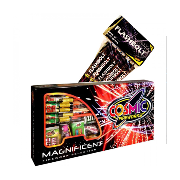 MAGNIFICENT SELECTION BOX 34 PIECES BUY 1 GET FLASHBOLT ROCKET PACK FREE