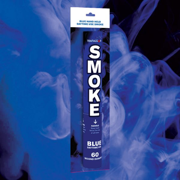 Blue Handheld Coloured Smoke