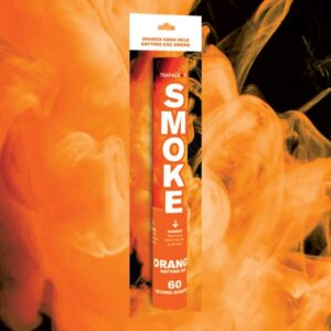 Orange Handheld Coloured Smoke