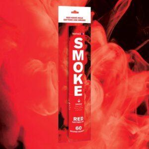 Red Handheld Coloured Smoke