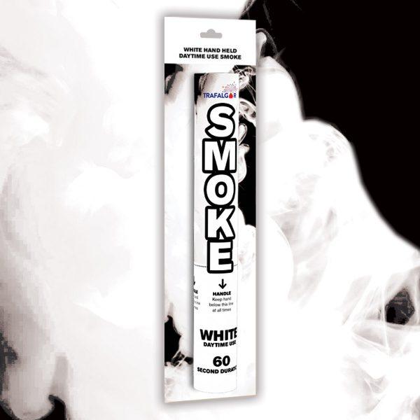 White Handheld Coloured Smoke
