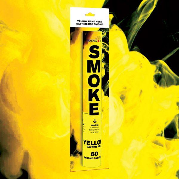 Yellow Handheld Coloured Smoke